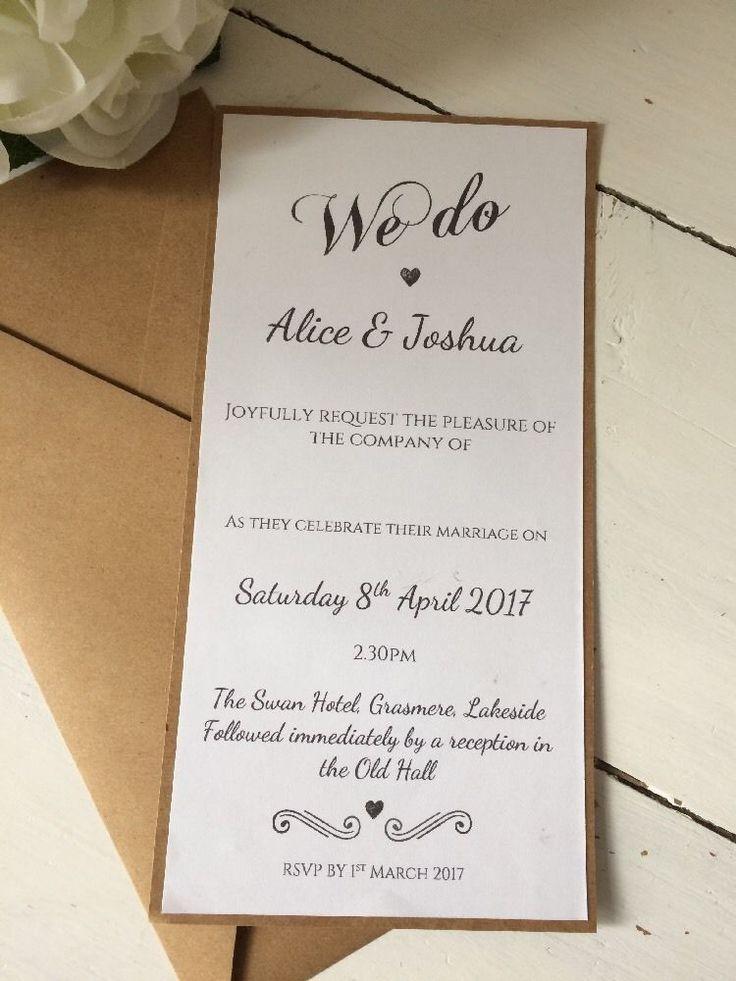 235 best Wedding invitations images on Pinterest | Wedding ...