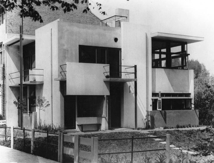 Rietveld Schroder House (exterior), 1924, Rietveld, Utrecht, Netherlands