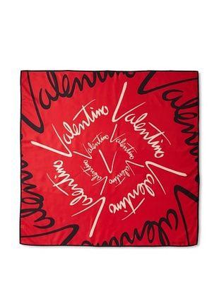 Valentino Women's Logo Scarf (Red)
