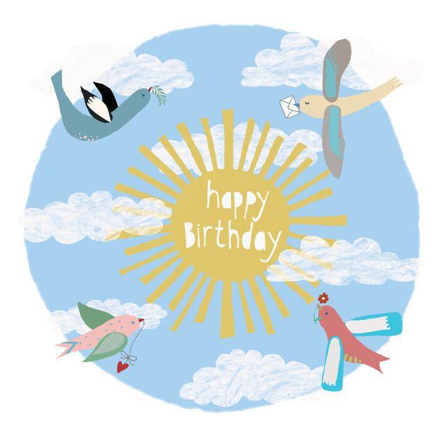 'Birthday Birds' Square card £2.50