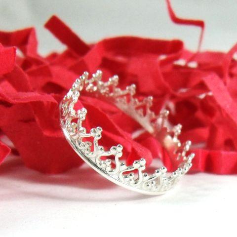 Sterling Silver Princess Tiara Ring
