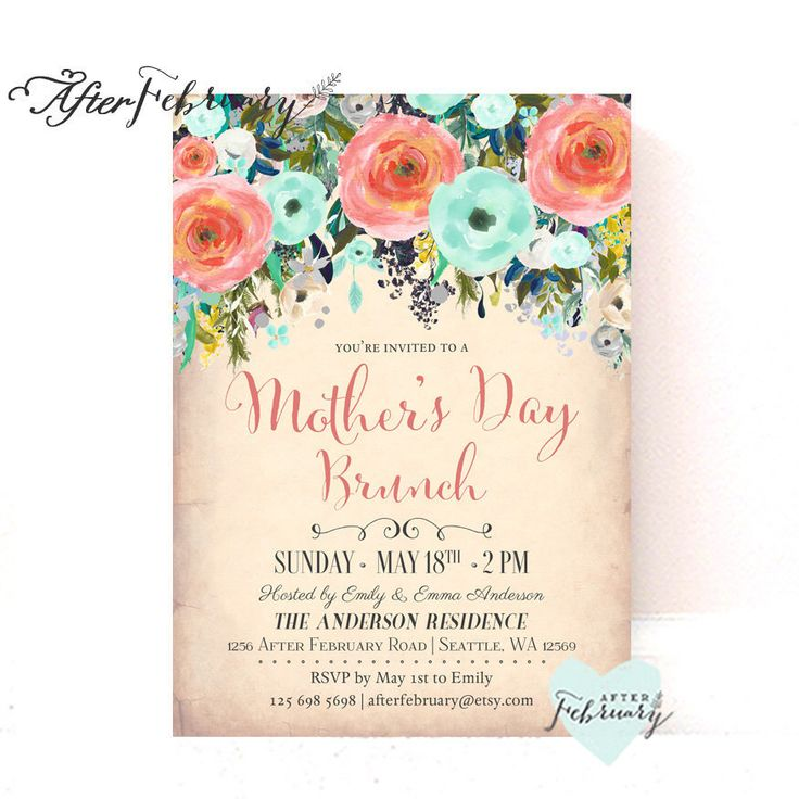 Mothers Day Brunch V2 Flyer Template: 17 Best Ideas About Brunch Invitations On Pinterest