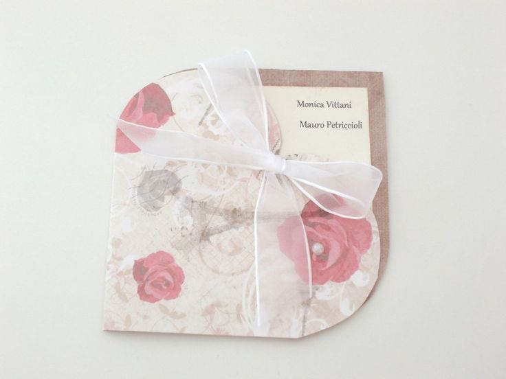 Partecipazione e invito matrimonio (set rose) di Monica Vittani Handmade su DaWanda.com
