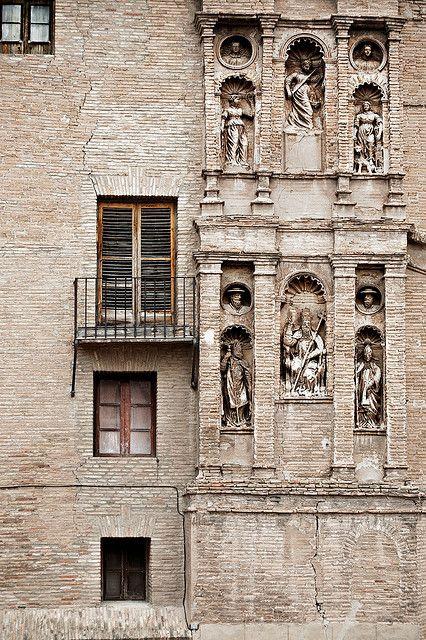 Fachada Palacio Episcopal Tarazona   Aragón  Spain