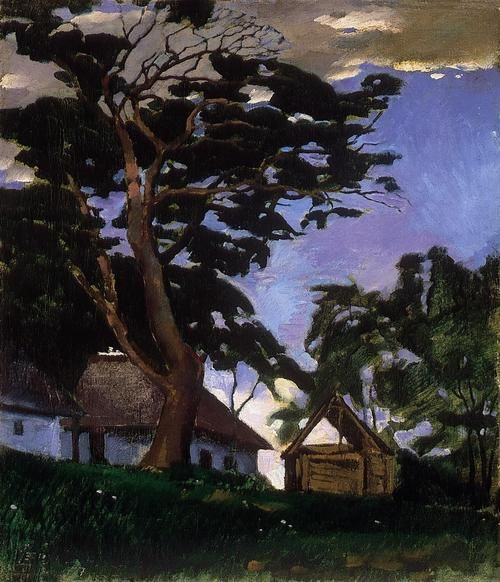 Landscape with a Tree against the Sky 1917  Szőnyi István