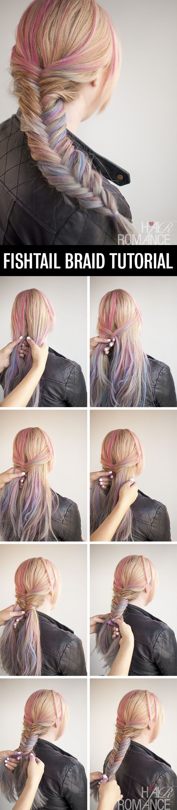 Hairstyle Tutorial: How to do a fishtail braid | Hair Romance. I thought this one was really good for up top.