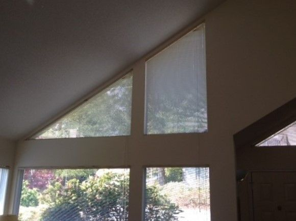 Q A How To Cover Angle Shaped Windows Without Blocking All The