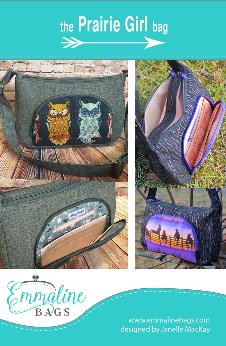 Emmaline Bags: Sewing Patterns and Purse Supplies: The Prairie Girl Bag - By Janelle MacKay