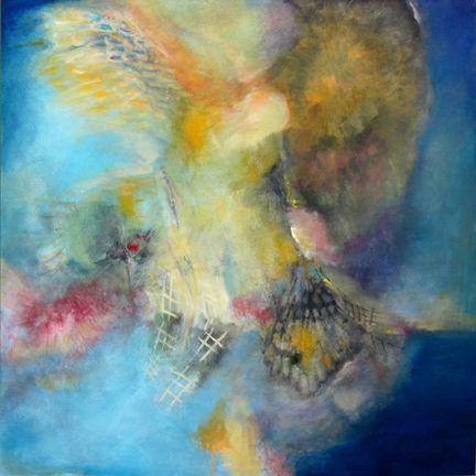 "Icarus, 36""x36"", www.janetstrayer.com"