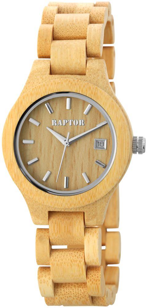 Holz Armbanduhr Damenuhr beige Raptor Holzuhr http//www