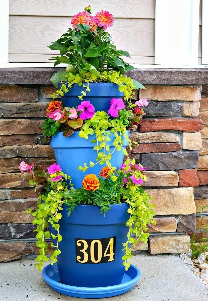 Die 25+ Besten Ideen Zu Outdoor Blumenkübel Auf Pinterest ... Pflanzgefase Im Garten Ideen Gestaltung