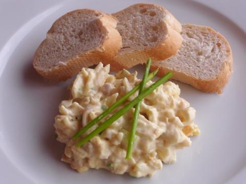 Eiersalat vegan. Schmeckt wie echter Eiersalat einfach unglaublich