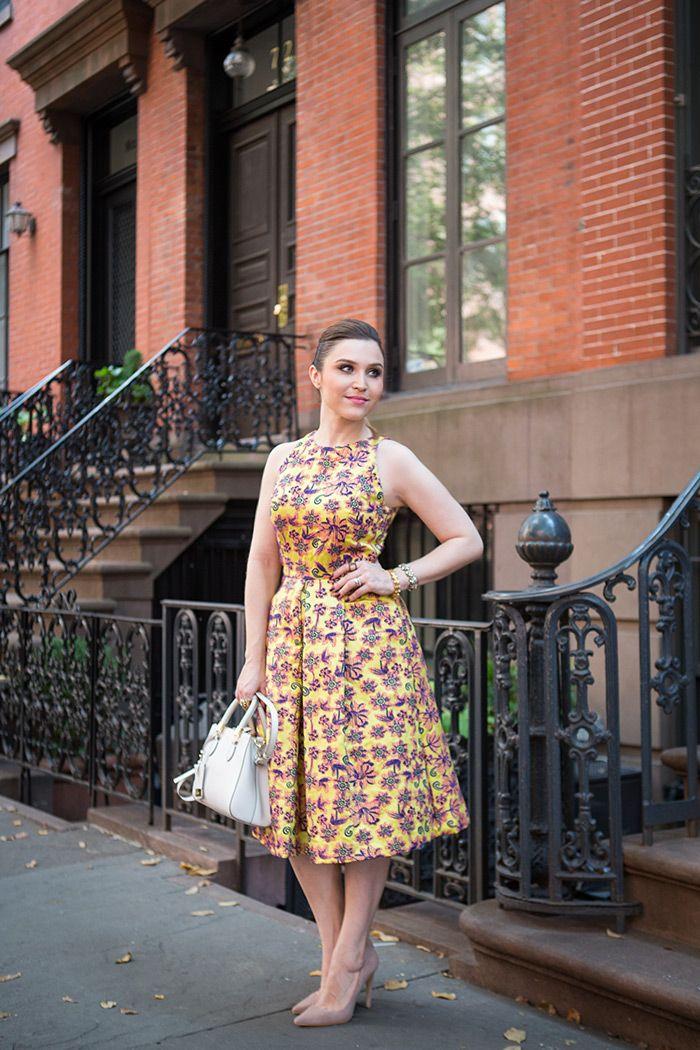 Lu Ferreira - Chata de Galocha  Look da Lu: de vestido pra NYFW
