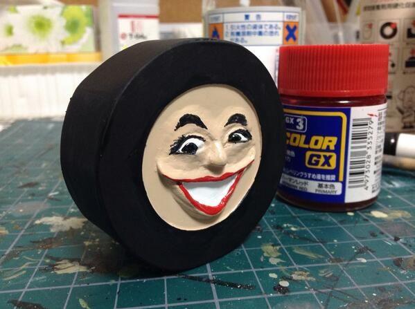 Twitter / sjkimura: 出来た出来た。タイヤのあの人。 1時間でプラ板とエポキシパテ ...
