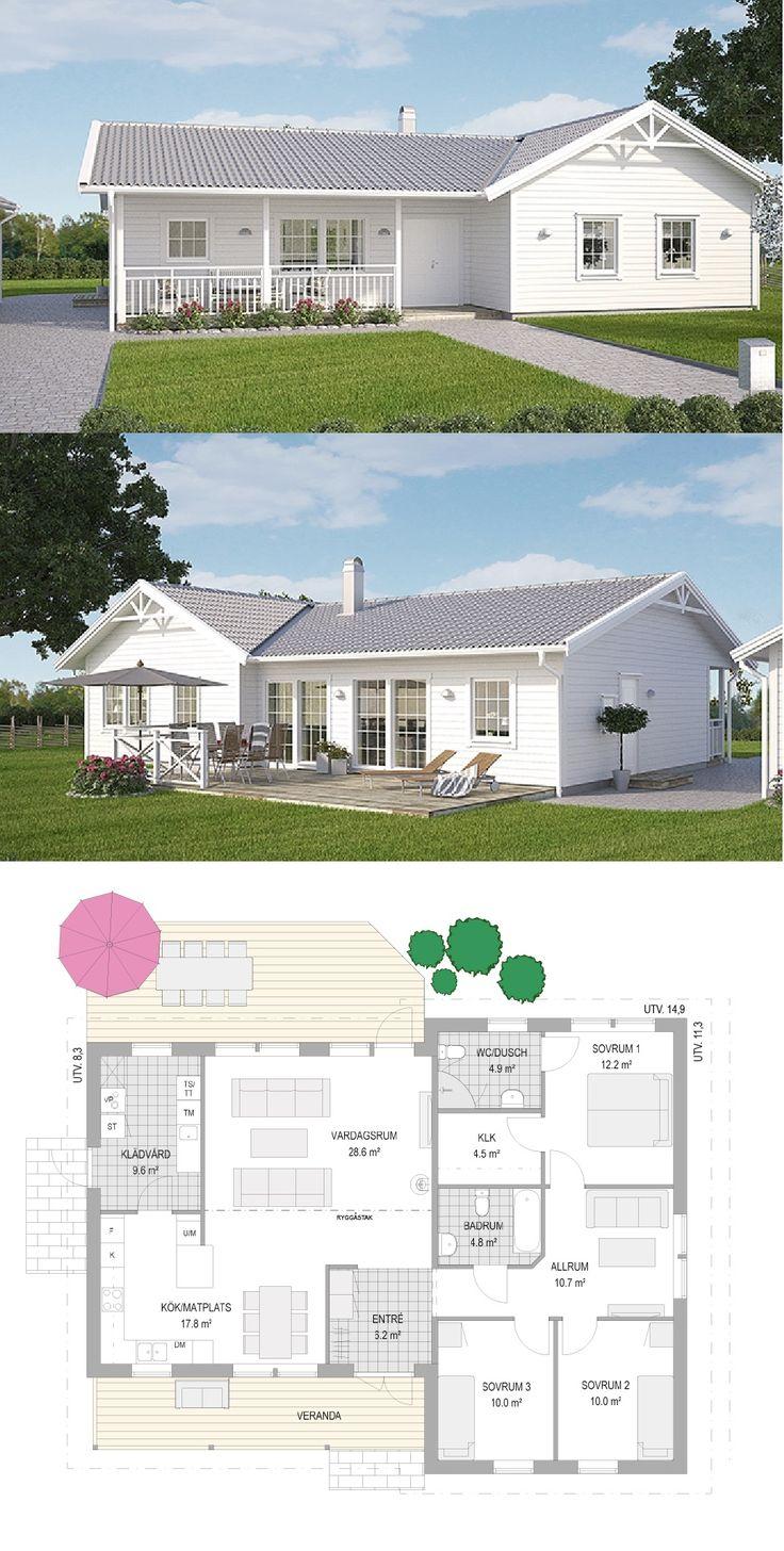 Best 25 villa plan ideas on pinterest sims 3 deck ideas for Casas de tres recamaras