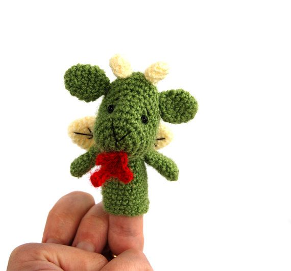 $22.24 #dragon #finger #puppet, #crochet #dragon #puppet, #imaginary #plush #toy, #fairy #tale #figurine, #kid #toy, #soft #gift #for #boys, #cute #dragon #amigurumi