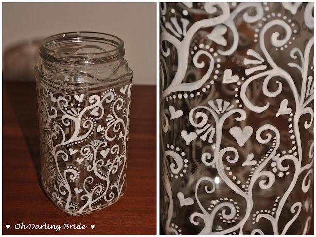 Another idea for outdoor lighting ... paint recycled glass jar then cover them in translucent paper. I think I may try just painting the outside and then paint the inside on solid color so these can be a permanent installement.