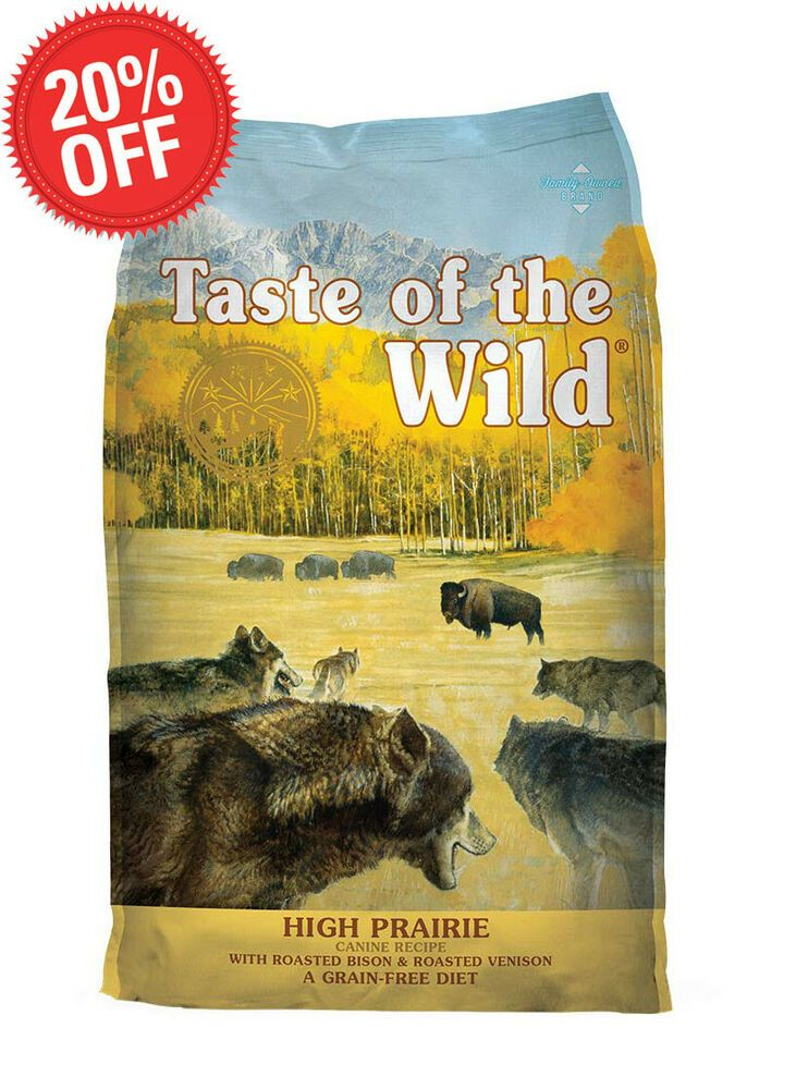 Details About Taste Of The Wild High Prairie Grain Free Dry Dog