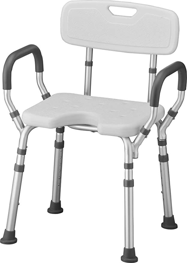 Amazon Com Nova Shower Bath Chair With Back Arms Hygienic Design Quick Easy Tools Free Assembly Lightwe In 2020 Shower Chairs For Elderly Shower Chair Chair