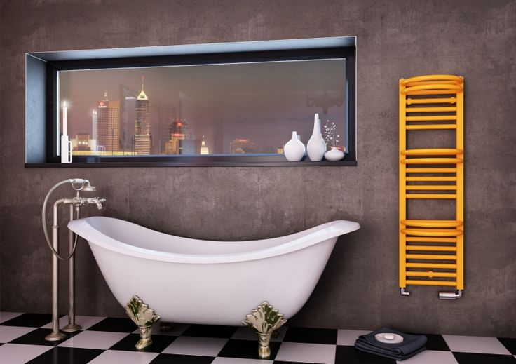 Pearl Bath Special: Designer radiator with towel rail. Painted radiator - available in 216 colours. Electric radiator, dual fuel radiator or central heating radiator. Ladder radiator with middle or classic connection. Available accessories. Available in 4 weeks.