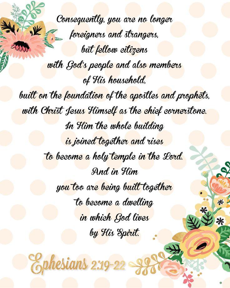 For MaryJane'16 >Ephesians 2:19-22