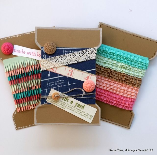 Use the Envelope Punch Board to make these spool cards. Perfect for that crafty friend!
