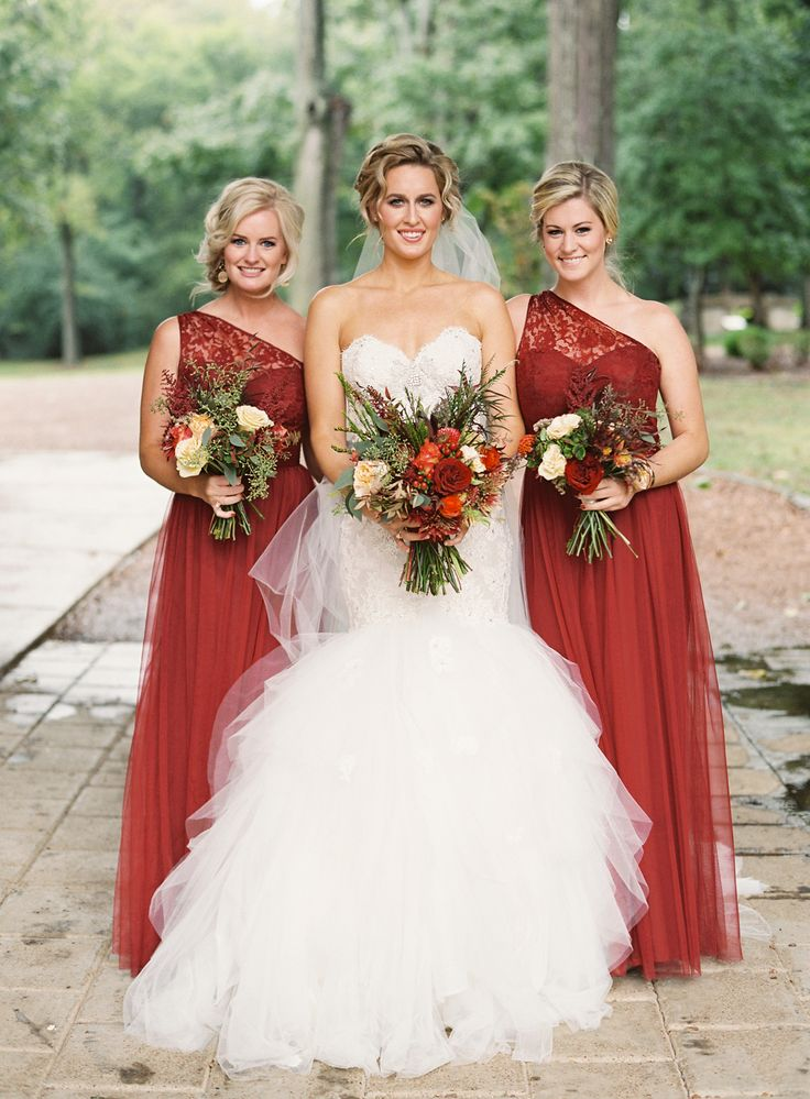 Burnt orange fall bridesmaids #fallbridesmaids @weddingcihcks