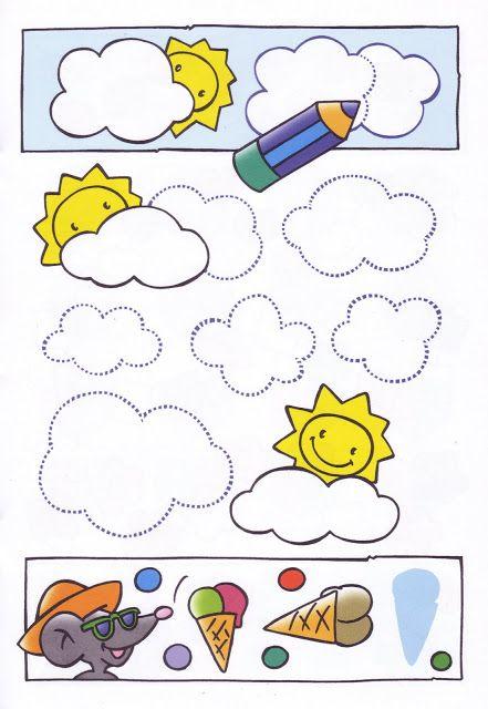 schrijfpatroon wolken