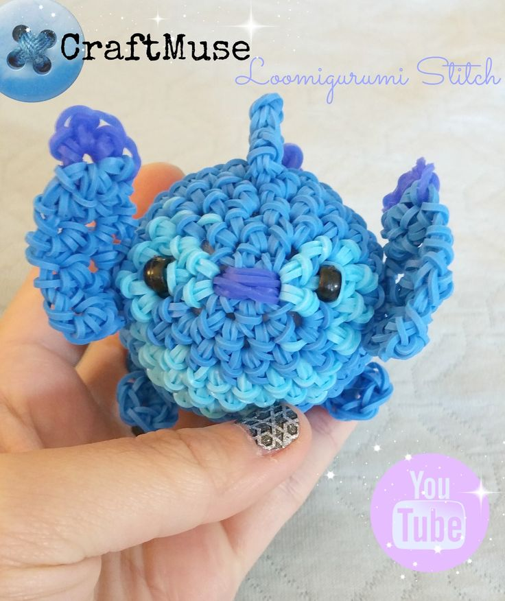 Rainbow Loom Stitch Loomigurumi (Inspired by TSUM TSUM)