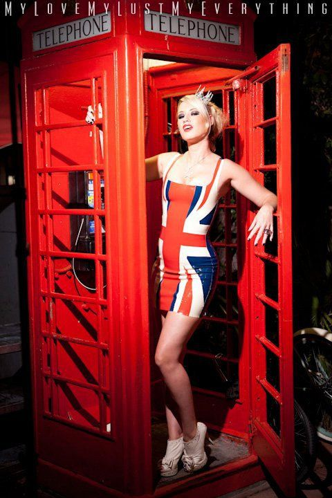 Latex Union Jack Dress by Vengeance Designs