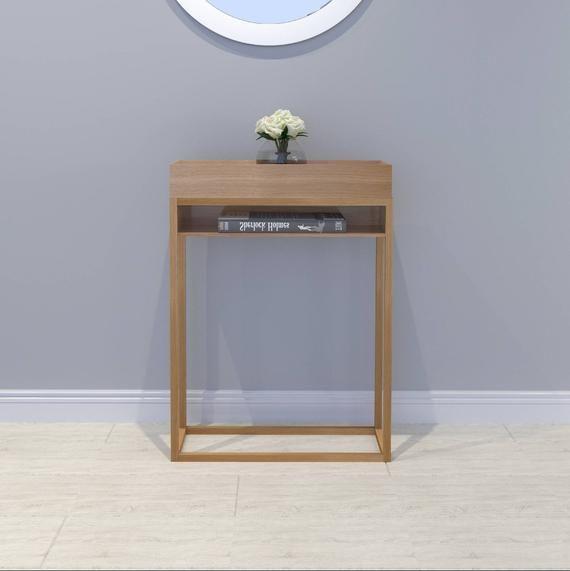 Massivholz Konsole Konsolentisch Schmal Konsolentisch Konsole Holz Konsolentisch Narrow Console Table Home Decor Decor Table
