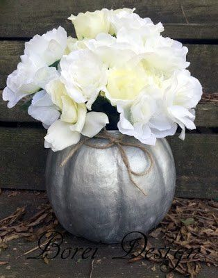 How to easily make a pretty paper mache pumpkin container for fall or Halloween using an old plastic pumpkin bucket as a mold.