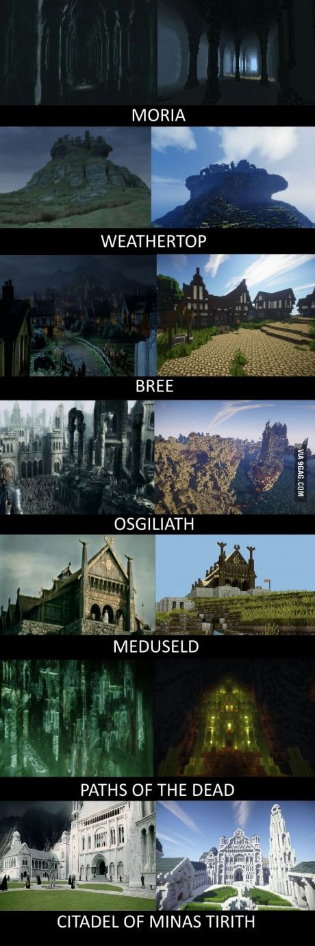 Middle Earth brought to life in Minecraft- Part 2