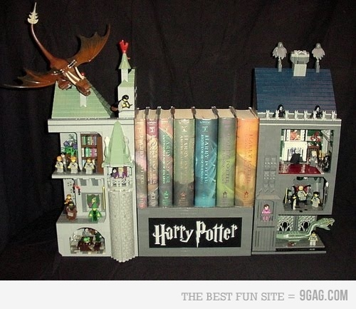 Lego Harry Potter Bookshelf - is this real?!? I need to get my little man to build it for me