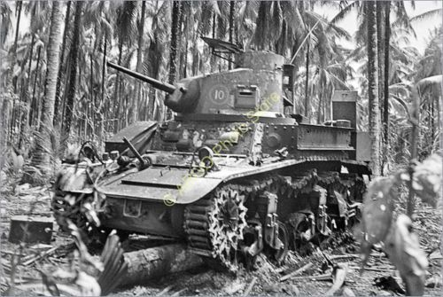 ml169-WWII-WW2-Australian-army-M3-Stuart-tank-artillery-1940s-military-photo