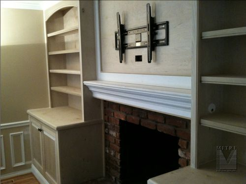 recessed tv over fireplace ideas - Google Search
