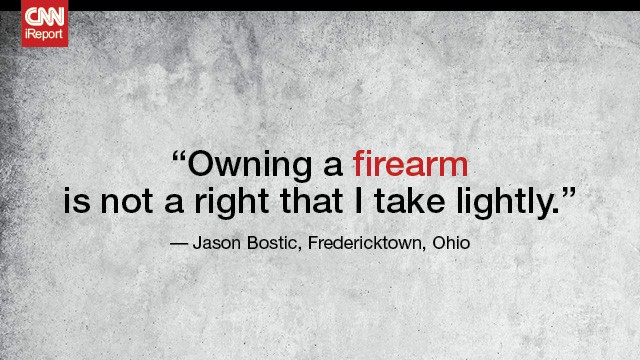 Read the full story here: http://www.cnn.com/2012/08/03/us/gun-culture-ireport/index.html#