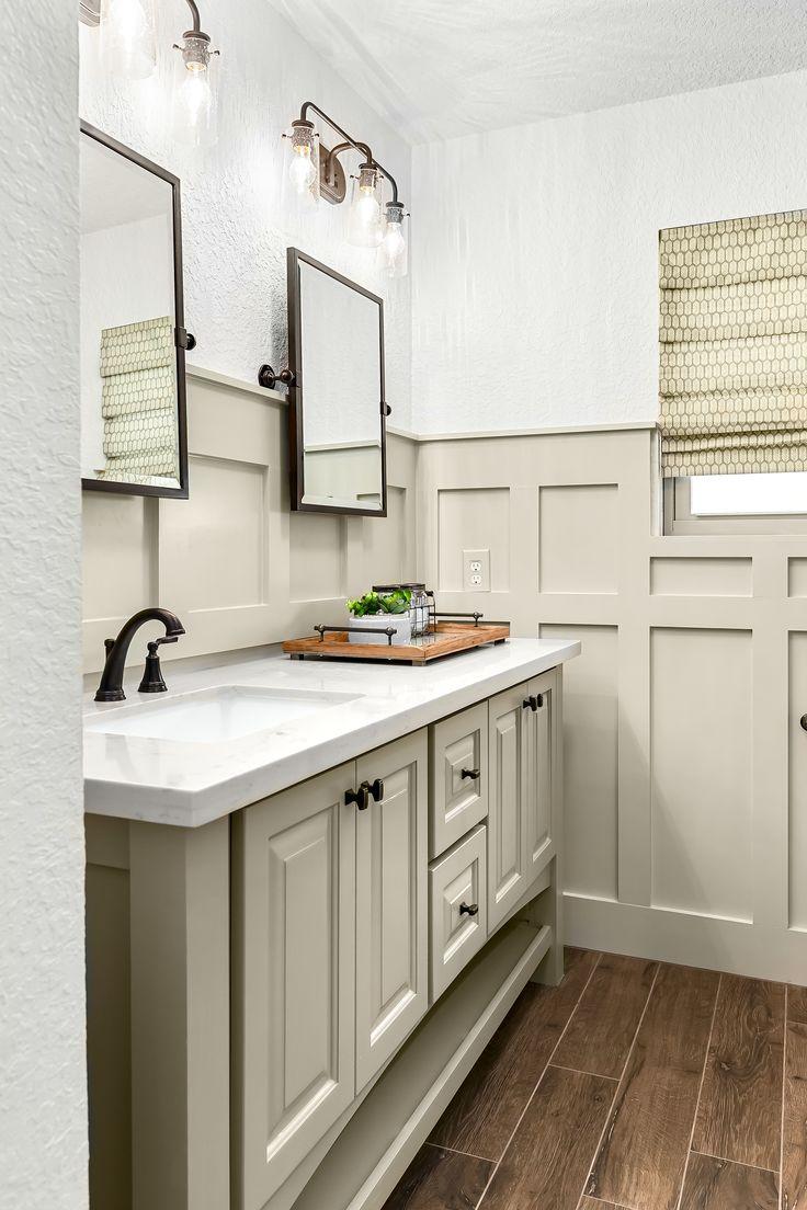 Farmhouse bathroom design in 2020 Bronze bathroom decor