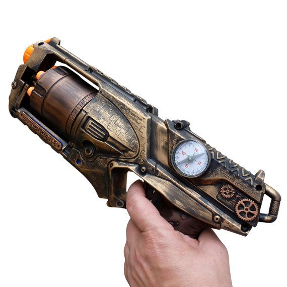 Steampunk - Steampunk STRONGARM toy Gun Zombie walking man Nerf soft dart Vampire Victorian cosplay Limited by oldjunkyardboutique