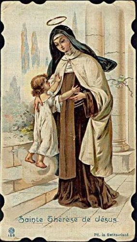 One day Theresa of Avila saw a child who asked her, 'Who are you?' She responded , 'I am Theresa of  Jesus. And who are you?' The Child lifted his arms to her & said, 'I am Jesus of Theresa!'