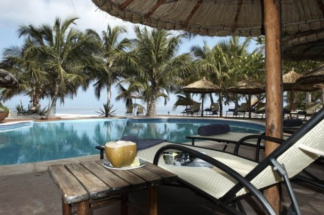 Lounger by the pool - Pestana Bararuto Lodge.Quote and book  http://www.south-african-hotels.com/hotels/pestana-bazaruto-lodge-mozambique/