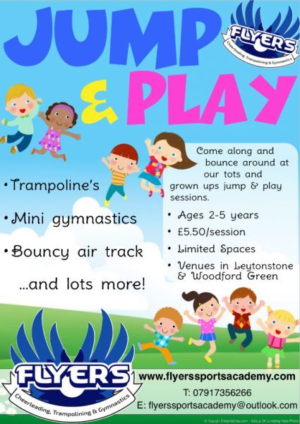 We run gymnastics tumbling, trampolining and cheerleading classes at St Aubyns School, (Woodford Green) and Leytonstone School (Leytonstone)...