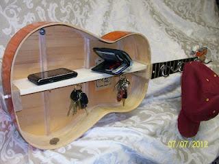 Guitar Entryway Shelf
