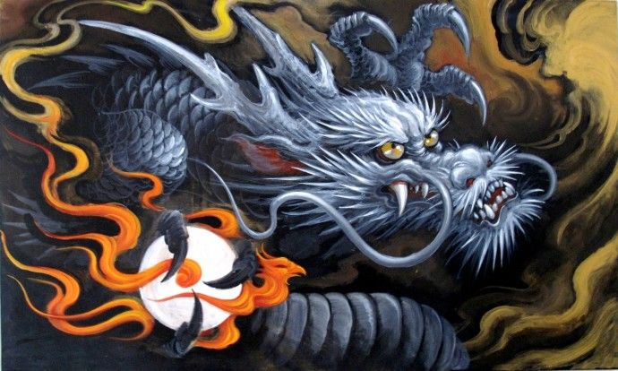 17 best images about garver work on pinterest planet for Japanese dragon painting