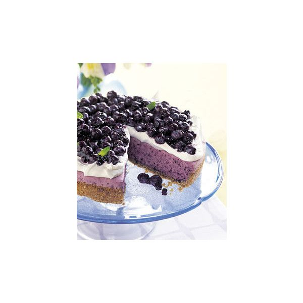 No-Bake Blueberry Cheesecake with Graham Cracker Crust Photo at ...