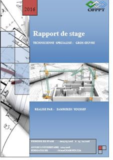 Rapport De Stage Gros Oeuvre Pdf Ofppt Dessin Batiment Gros Oeuvre Stage