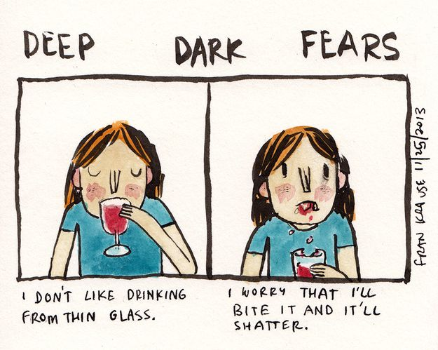 27 Deep Dark Fears That Will Make Your Skin Crawl. i dont know why i find this so funny but i do. probably because i have irrational fears like this