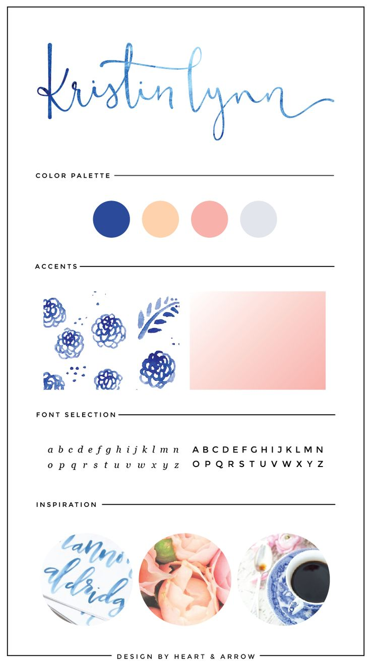 Blue watercolor logo design