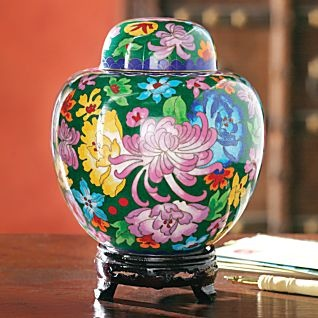 Chinese Cloisonne Ginger Jar - National Geographic Store.