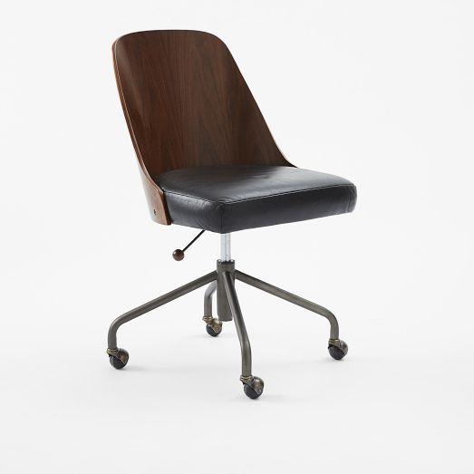 Bentwood Office Chair West Elm Guest Room Desk Chair